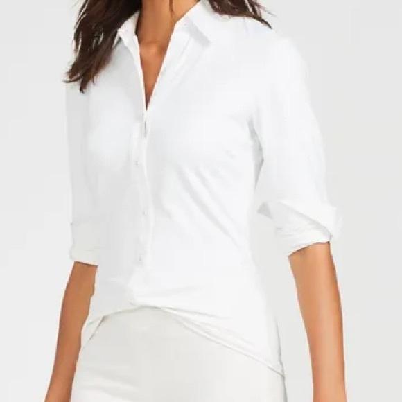 J. McLaughlin Betty Shirt Blouse Catalina Cloth M
